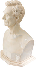 Political:3D & Other Display (pre-1896), Abraham Lincoln: 1860 Plaster Bust by Leonard Volk....