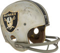Football Collectibles:Helmets, 1968-69 Daryle Lamonica Game Used Oakland Raiders Helmet - Photomatched to AFL Championship Game....