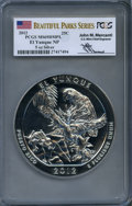 Modern Bullion Coins, 2012 25C El Yunque Five-Ounce Silver MS69 Deep Mirror Prooflike PCGS. Signature of John M. Mercanti, 12th Chief Engraver of...