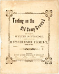 Books:Music & Sheet Music, [Sheet Music]. Walter Kittredge. Tenting on the Old CampGround. Boston: Oliver Ditson, 1864. Quarto. Publisher's pr...