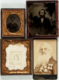 Photography:Daguerreotypes, [Stanley Morse]. Group of Four Nineteenth Century Photographic Portraits. [N.p., n.d., ca.,1800s]. Three small unknown portr... (Total: 4 Items)