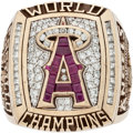 "Baseball Collectibles:Others, 2002 Anaheim Angels World Series Championship Ring Presented to""Rally Monkey"" Creator...."
