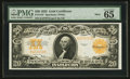 Large Size:Gold Certificates, Fr. 1187 $20 1922 Mule Gold Certificate PMG Gem Uncirculated 65EPQ.. ...
