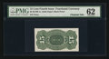 15¢ Fourth Issue Back Proof PMG Uncirculated 62