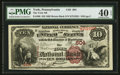 National Bank Notes:Pennsylvania, York, PA - $10 1882 Brown Back Fr. 480 The York NB Ch. # 604. ...