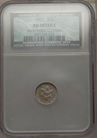 1852 3CS -- Improperly Cleaned -- NCS. AU Details. NGC Census: (8/1364). PCGS Population (34/1510). Mintage: 18,663,500...