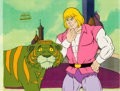 Animation Art:Production Cel, He-Man and the Masters of the Universe Prince Adam andCringer Production Cel Setup with COA Animation Art (Fi... (Total:3 Items)