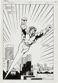 Original Comic Art:Splash Pages, Tom Lyle and Turner Allen The Comet #8 Splash Page 22Original Art (DC, 1992)....