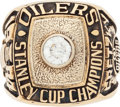 Hockey Collectibles:Others, 1984 Wayne Gretzky Edmonton Oilers Stanley Cup Championship Salesman's Sample Ring....