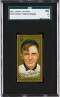 Baseball Cards:Singles (Pre-1930), 1911 T205 Sweet Caporal Christy Mathewson SGC 60 EX 5 - Factory 42....