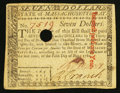 Colonial Notes:Massachusetts, Massachusetts May 5, 1780 $7 Very Fine-Extremely Fine.. ...