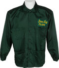 Football Collectibles:Uniforms, Early 1970's Green Bay Packers Game Worn Coach's Sideline Jacket and Cap....