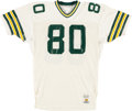Football Collectibles:Uniforms, 1988-90 Green Bay Packers Game Worn #80 Jersey. ...