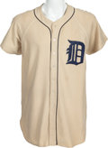 Baseball Collectibles:Uniforms, 1949 Vic Wertz Game Worn Detroit Tigers Jersey, MEARS A6....