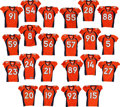 Football Collectibles:Uniforms, 2009 Denver Broncos Game Worn, Unwashed Jerseys Lot of 22....