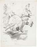 Baseball Collectibles:Others, Circa 1941 Bob Feller Original Burris Jenkins Production Art. ...