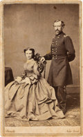 Photography:CDVs, George Armstrong Custer and Elizabeth: A Rare Carte de Visite by Brady....