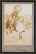 "Autographs:Celebrities, William F. ""Buffalo Bill"" Cody: A Rare Oversized Signed Photo...."