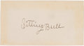Autographs:Military Figures, Sitting Bull: A Fine Ink Signature of the Famous Sioux Leader....