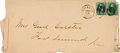 Autographs:Military Figures, George Armstrong Custer: A Circa 1870 Envelope Addressed to HisWife Libbie in His Hand....