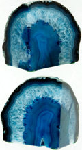 Books:Furniture & Accessories, [Bookends]. Matching Pair of Geode Bookends. Ca. 1960s. Geode hasbeen bisected with each half polished on two surfaces.... (Total: 2Items)