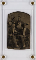 Photography:Tintypes, A Great Published Tintype Image of Three Armed Texans, PossiblyRangers....