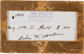 Autographs:Celebrities, John Wesley Hardin: A Classic Form of His Sought-After Signature....