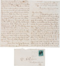 Autographs:Celebrities, Frank James: An Important 1883 Letter Written from Jail to His Wife Anna....
