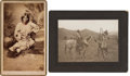"""Photography:Studio Portraits, Boudoir: Photograph of """"Wife of Cochise"""" & Blackfoot Chief & Squaw...."""