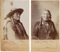 Photography:Studio Portraits, Two Photos of Indian Chiefs by Shiffert....