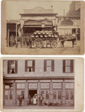 Photography:Cabinet Photos, Cabinet Card: Two Western Town Saloon Scenes....