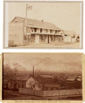 Photography:CDVs, Carte de Visite: Two Photographs of Early Western Breweries....
