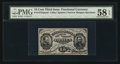 Fractional Currency:Third Issue, Fr. 1272SP 15¢ Third Issue Face PMG Choice About Unc 58 EPQ.. ...