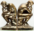 """Books:Furniture & Accessories, [Bookends]. Matching Pair of Rodin's The Thinker. Ca. 1960s.Nice patina. Each measures 7"""" tall x 2.75"""" wide x 4... (Total: 2Items)"""