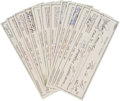 Autographs:Checks, 1983-85 Ted Williams Signed Personal Checks Lot of 48....