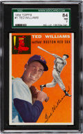 Baseball Cards:Singles (1950-1959), 1954 Topps Ted Williams #1 SGC 84 NM 7....