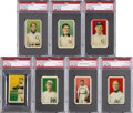 Baseball Cards:Sets, 1910 T209 Contentnea Type 1 Baseball PSA Graded Partial Set (7/16). ...