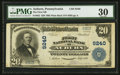 National Bank Notes:Pennsylvania, Auburn, PA - $20 1902 Plain Back Fr. 652 The First NB Ch. # 9240....