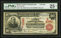 National Bank Notes:Pennsylvania, Mount Carmel, PA - $10 1902 Red Seal Fr. 615 The Union NB Ch. # (E)8393. ...