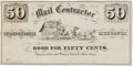 Advertising:Paper Items, Early Stage Coach Ticket: An Independence, Missouri Ticket c.1860....