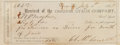 Miscellaneous:Ephemera, Oregon Stage Company: An 1867 Receipt for a Driver's Month'sPay....