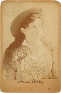 Photography:Cabinet Photos, Annie Oakley: A Classic Brisbois Cabinet Showing Her Wearing HerShooting Medals....