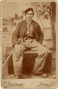 Photography:Cabinet Photos, Published Arizona Cabinet Photo of Cavalry Soldier with CampHuachuca Background....