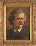 Art, Mark Twain: A Fine Oil Portrait Attributed to James CarrollBeckwith....