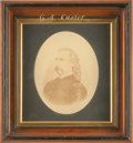 Photography:Studio Portraits, George Armstrong Custer: A Large Oval Albumen Photo....