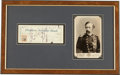 Autographs:Military Figures, George Armstrong Custer: A Personal Bank Check Bearing his Distinctive Signature....
