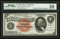 Large Size:Silver Certificates, Fr. 261 $5 1886 Silver Certificate PMG Choice About Uncirculated 58.. ...