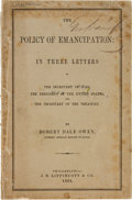 Political:Small Paper (pre-1896), [Abraham Lincoln]: Robert Dale Owens Appeal For Emancipation....