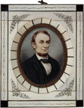 Political:3D & Other Display (1896-present), Abraham Lincoln: Portrait Miniature Plaque....