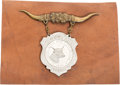 General Historic Events:Expos, Dallas State Fair: Souvenir Badge of the Inaugural Event....